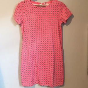 J Crew Crewcuts pink floral shirt sleeved dress